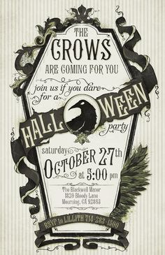 Crow  Invitation by EnchantedRumors on Etsy, $90.00