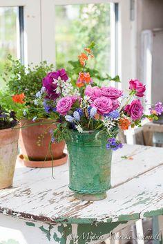 joy of colorful blooms Summer Flowers, Fresh Flowers, Silk Flowers, Beautiful Flowers, Bloom Where Youre Planted, Silk Flower Arrangements, Color Rosa, Floral Centerpieces, Floral Bouquets
