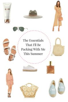 With warmer days ahead, I am starting to put together my lists for the essentials that I'll be packing with me this summer. We have a few sunny destinations for this year that I am really excited about, from Indonesia to Croatia. Summer Vacation Style, Summer Travel, Top Travel Destinations, The Essential, What To Pack, Packing Tips, Essentials, Place Card Holders, Suitcase