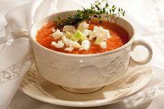 Sopa fria de tomates