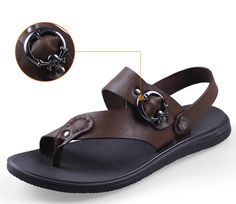 Handmade 38-47genuine leather men sandals Slippers man summer leather shoes pantufas adulto HECRAFTED brands #1581