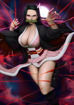 Nezuko by Tecnomayro on DeviantArt Thicc Anime, I Really Love You, Tecno, Slayer Anime, Drawing Tools, Large Art, Community Art, Woman Face, Anime Characters