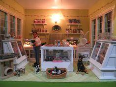 Dollhouse Miniature Pet Shop Room Box Interior by Sheila A. Nielson