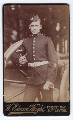 CDV Military ? Royal Artillery Soldier w Stick standing by Gun by Wright London   Collectables, Photographic Images, Antique (Pre-1940)   eBay!