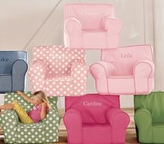 Love these chairs.  The perfect addition to a reading space in her new room!