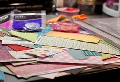 The other day I had a few minutes and decided to tackle my ever-growing pile of paper scraps. I came across an idea on Betsy Veldman's blog and thought it was a great solution for putting those scraps to good use. I thought I'd share my take on the idea here.    The key is to work quickly and not over think the process… a kitchen timer can help with this… go ahead and grab one. Set it to 5 minutes and gather up as many paper scraps as you can find. This is what I came ...