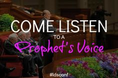 Come Listen to a prophet's voice.