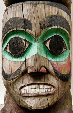 Totem Pole Detail, Juneau Alaska USA from : First Light Images on Etsy.com
