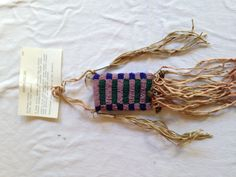 Beaded pouch researched and executed by Hal Barbour