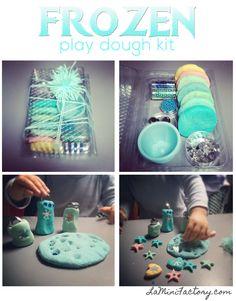 Frozen play dough kit home made. Realizza il tuo kit con pongo/didò fatto in casa senza cremor tartaro!! Per tutti i piccoli amanti di Frozen!