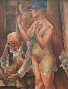 Husband and Wife, 1926 by George Grosz (German 1893-1959)