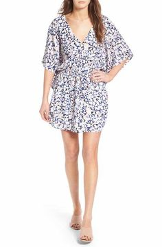cupcakes and cashmere Lakeside Floral Print Minidress