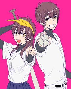 (Diamond no Ace) Sawamura Eijun Gender Swap Anime, Mahou Shoujo Ore, Diamond No Ace, Aladdin Magi, Miyuki Kazuya, Little Giants, Anime Oc, Manga Characters, Kuroko