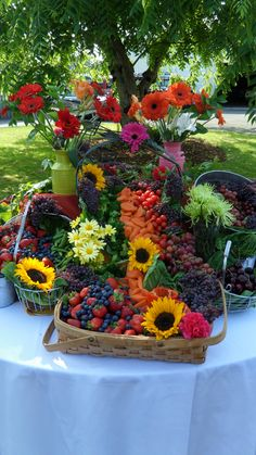 Fruit + Veggie Landscape by Alexa's Catering. Seattle Caterer. Seattle Catering.