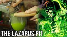 The Lazarus Pit is the way Ra's al Ghul can continually rise form the grave. It is DC's version of the fountain of youth. This hair of the dog cocktail is no. Lazarus Pit, Ras Al Ghul, Fountain Of Youth, Cocktails, Drinks, Batman, Herbs, Canning, Dog