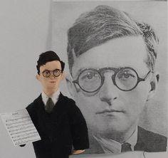 Russian Composer Dmitri Shostakovich Pianist Doll Art Figurine