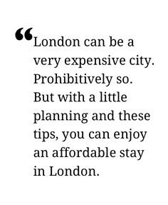 Budget London! 32 Free And Low-cost Tips