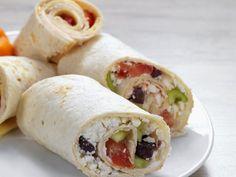 Rezept: Wraps mit Feta-Gemüsefüllung