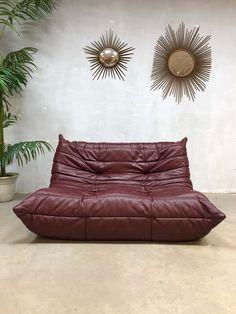 Vintage leren design bank sofa Togo Ligne Roset Michel Ducaroy www.bestwelhip.nl