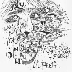 Lil Peep — LP art by the god dethbeach rare incorrect grammar...