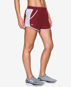 Under Armour Fly By Running Shorts - Red L