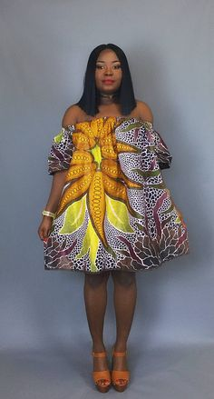 African print off shoulder dressjava print dress dashiki African Fashion Ankara, African Inspired Fashion, African Print Dresses, African Print Fashion, Ethnic Fashion, African Dress, Fashion Prints, Look Fashion, African Attire