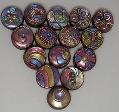 Polymer Clay Button Beads Samples by auntgriz, via Flickr