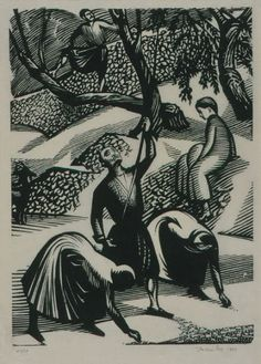 """""""Το Μάζεμα της Ελιάς"""",Τηλέμαχος Κάνθος,ξυλογραφία,1963 Print Artist, Artist Art, Greece Painting, Ink Pen Drawings, 10 Picture, Wood Engraving, Gravure, Drawing S, Printmaking"""
