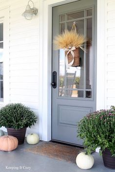 Door color is Amherst Gray. Amherst is a beautiful interior cabinetry color as well. Benjamin Moore