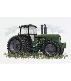 Janlynn Counted Cross Stitch Kit Tractor