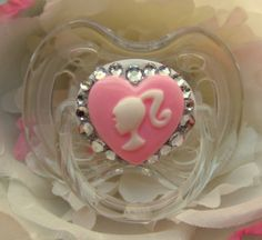 Avent Bling Barbie Rhinestone Baby Pacifier novelty by BeccaRooni, $16.00