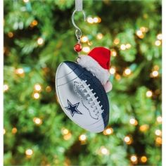 Dallas Cowboys Candycane Traditional Ornament - Navy Blue