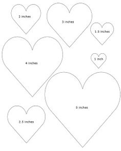 Don't Eat the Paste:FREE Heart Templates