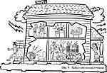 La casa - varios dibujos para describir
