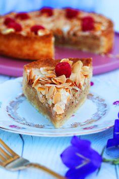 Vegansk mazarinpaj - fridasvegobak - Växtbaserad Vegansk Bakning Vegan Cheesecake, Fika, Lchf, Homemade, Snacks, Sweet, Recipes, Inspiration, Candy