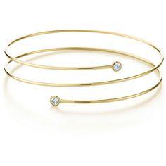 Elsa Peretti Diamond Hoop Bracelet ($3,445) ❤ liked on Polyvore featuring jewelry, bracelets, 18 karat gold bracelet, diamond bracelet bangle, elsa peretti bracelet, 18k bracelet et diamond jewelry