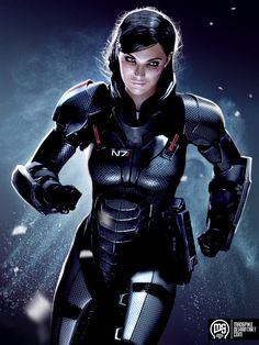 Shepard by ~MadSpike on deviantART (Such a stunning Shepard. Wonderfully expressive face, too!) #MassEffect #Shepard