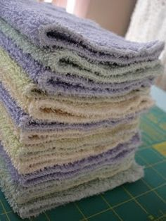 How to make wash cloths from old towels (and how to save a bundle!)