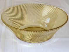 Amber DIANA Depression glass Large SaLAD BOWL by FeDERAL GLaSS COMPaNY in PERFECT condition