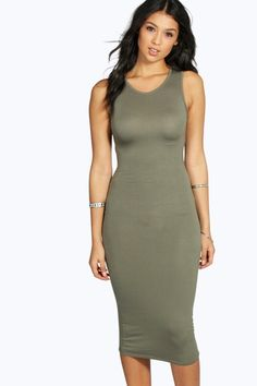 e20a51f03cff Lindsey Sleeveless Midi Dress Going Out Dresses, Dresses For Work, Day  Dresses, Green