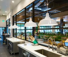 True Food Kitchen's philosophy is that food should make you feel better, not worse. Which is why they believe delicious dining and conscious nutrition can go hand in hand, without sacrificing flavor! ANP Lighting's OSWD524 Oversized shade was chosen to add maximum visual impact to this unique and health conscious restaurant!