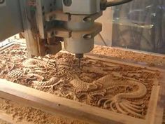 CNC Router cutting the Wood Dragon mad from hardness wood from Thailand. - YouTube