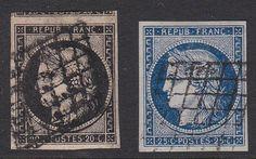 FRANCE 1849. N°3 et 4 OBLITERES ET TRES BEAUX.  120€. [A490]