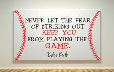 Baseball Canvas - Babe Ruth Quote by DearlyLovedBoutique