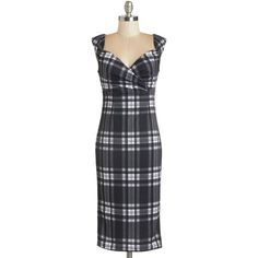 ModCloth Vintage Inspired, 90s, Scholastic Long Sleeveless Sheath Lady Love Song Dress