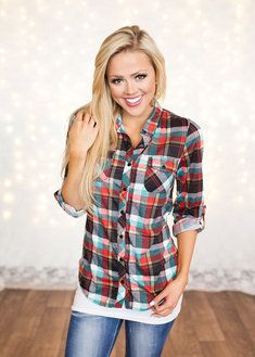Spicy In Flannel Top