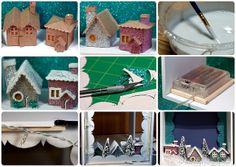 DIY Modern Christmas Village Process Shots by TinyApartmentCrafts, via Flickr