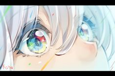Untilted Art - By Hoshizaki Reita - - Art Anime, Chica Anime Manga, Anime Art Girl, Kawaii Anime, Manga Girl, Anime Girls, How To Draw Anime Eyes, Manga Eyes, Arte Peculiar