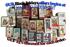 Black Friday Offer. 15 % discount for each order.   Use code 'Blackfriday' during check-out.  Offer Begins 2014-11-27 07:00:00 GMT     Offer ends. 2014-11-29 23:59:59 GMT