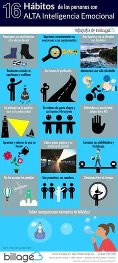 Hola: Una infografía con 16 hábitos de las personas con alta Inteligencia Emocional. Vía Billage Un saludo